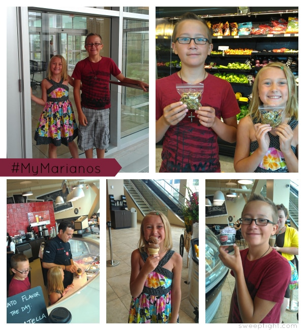 Kids enjoying Mariano's shopping in Chicago #MyMarianos #shop