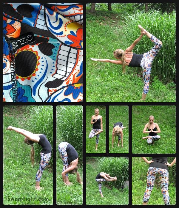 Bikram Hot Yoga Pants with sugar skulls