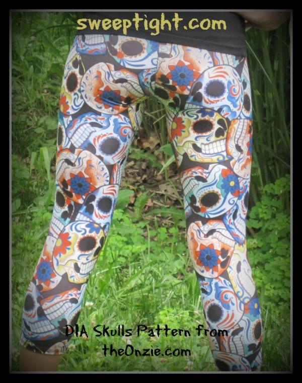 Hot Yoga Pants from The Onzie - Skull Leggings