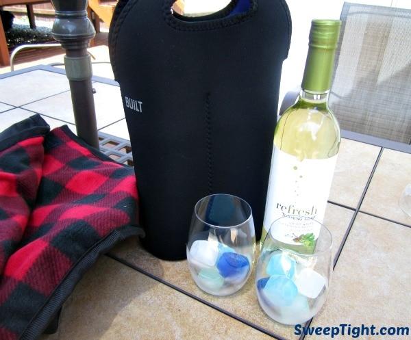 wine over ice
