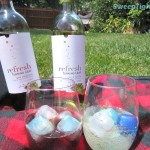 Perfect Summer Picnic with Wine Over Ice