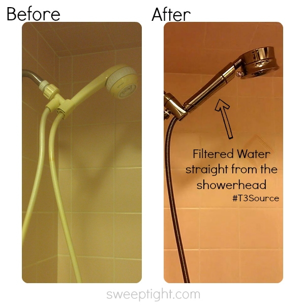 Before and After Shower Head