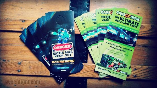 GameTruck fliers for party