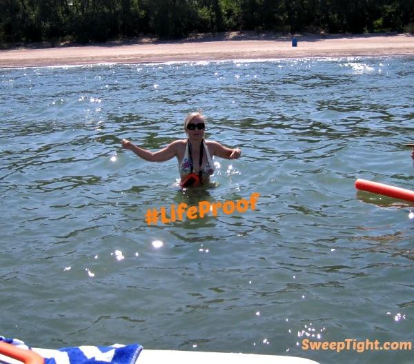 lifeproof case in lake michigan