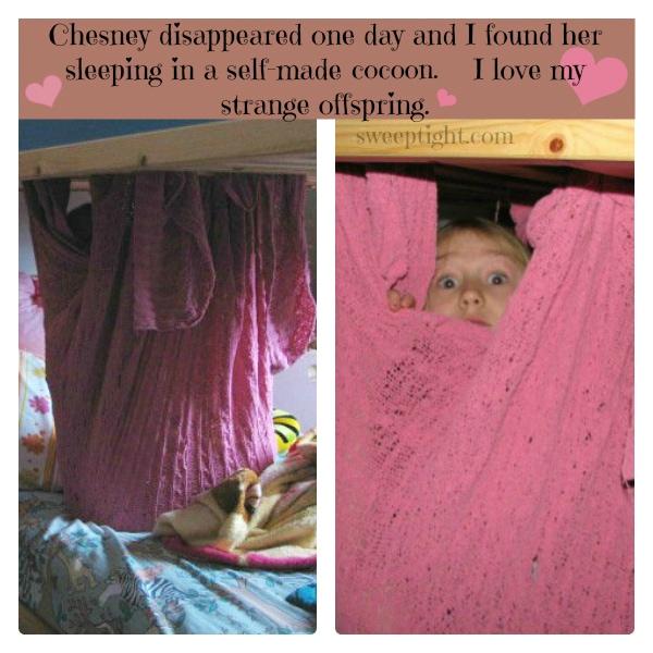 Funny sleeper.  Cozy Kid cocoon. #DownLinens