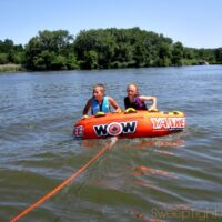 Tubing on the Illinois River with a WOW Tube