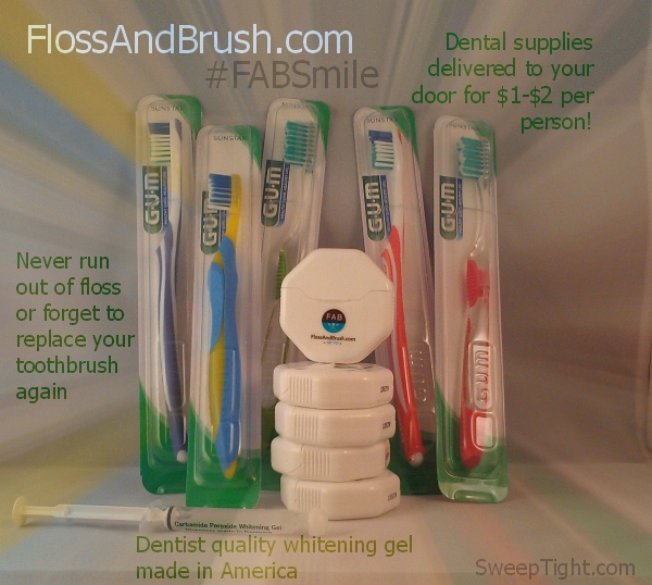Dental Supplies to keep your smile happy shipped straight to your door! #FABSmile #Sponsored