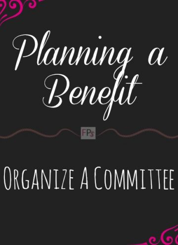 Planning a Benefit | Organize a Committee