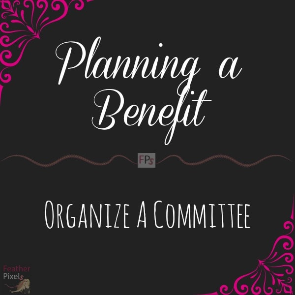 Planning a Benefit - Organize a Committee