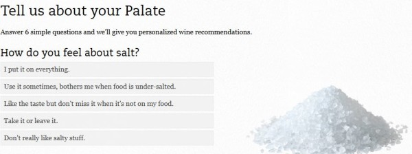 Club W Wine Palate Quiz