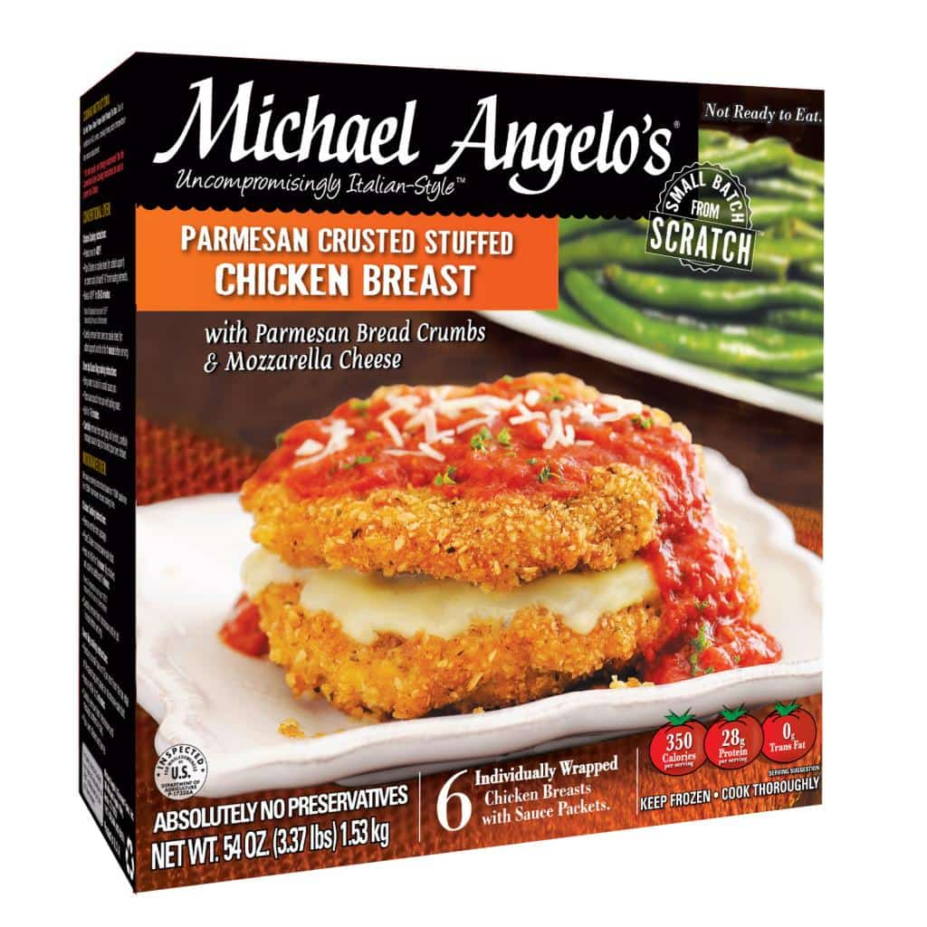 Michael Angelo's New Parmesan Crusted Stuffed Chicken Breasts