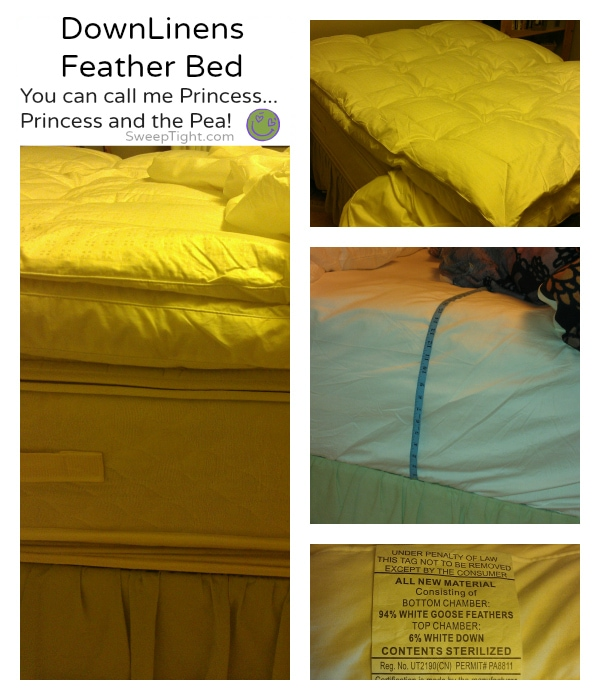Heavenly princess feather bed from #DownLinens
