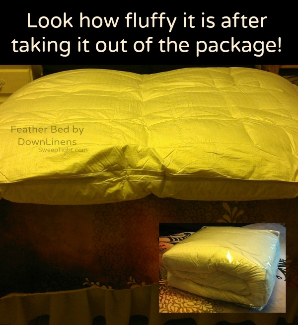 Heavenly fluffy feather bed #DownLinens