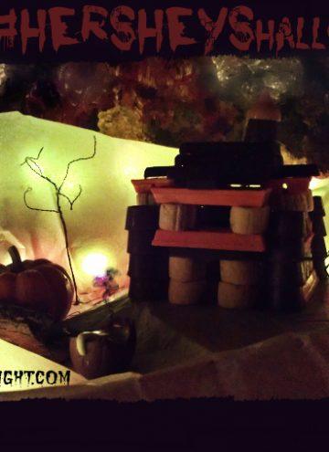 DIY Haunted House Halloween Candy Craft