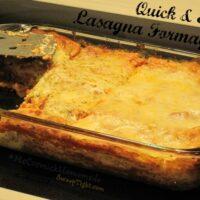 quick lasagna