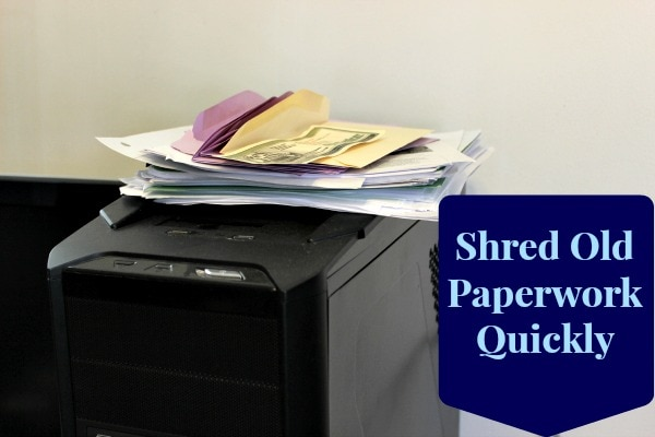 shred paperwork