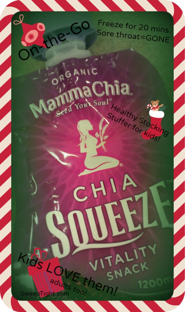 Chia Squeeze for holidays #stockingstuffer
