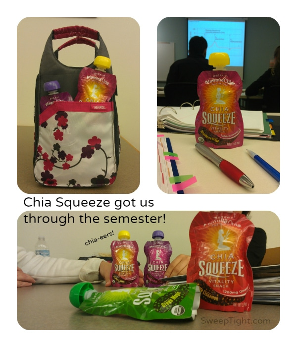 Chia Squeeze snack perfect for on the go
