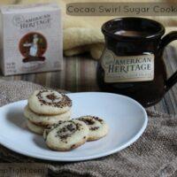 Cocoa or Cocao Swirl Sugar Cookie Recipe #Sponsored #MC