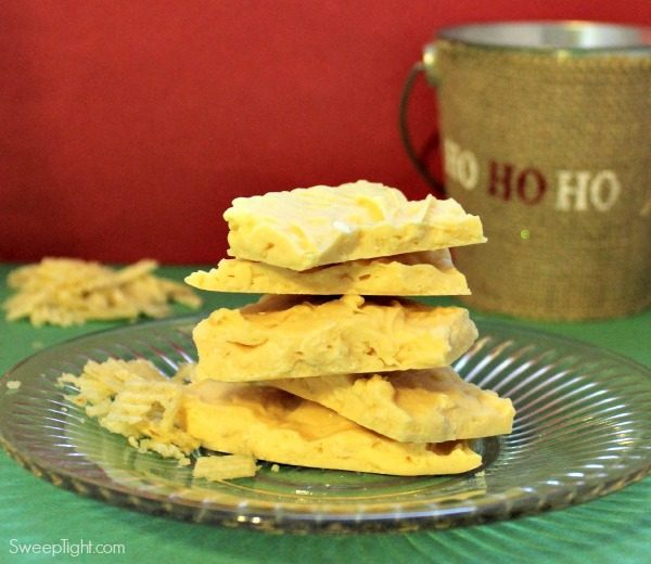 White Chocolate Potato Chip Bark Recipe
