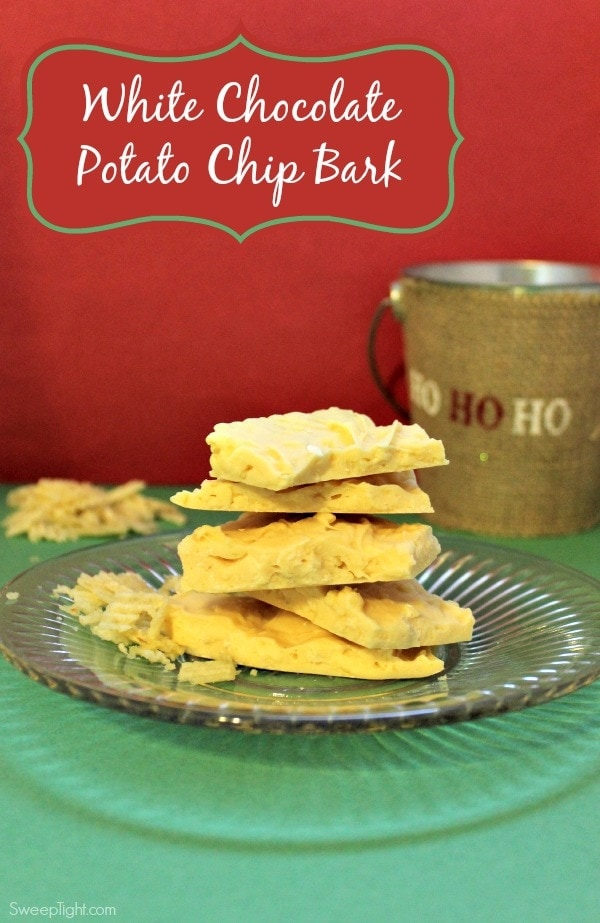 White Chocolate Potato Chip Bark