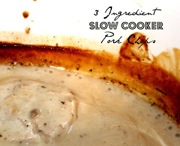 3 ingredient slow cooker pork chops