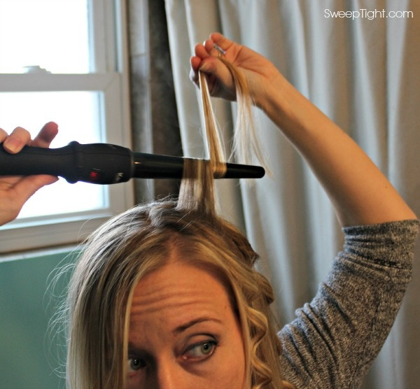 Wrapping hair flatly