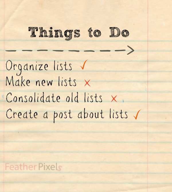 For the Love of List Making