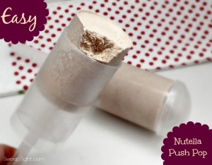 Nutella Frozen Push Ups Recipe