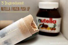 Nutella frozen push pops