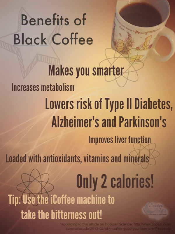 Benefits of black Coffee @iCoffee