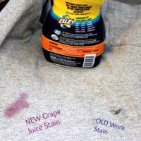 Biz Challenge with Grape Juice Stain