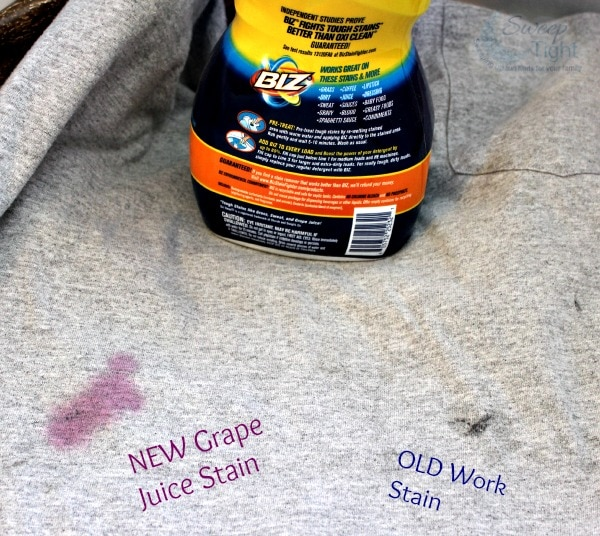 Biz Challenge with Grape Juice Stain
