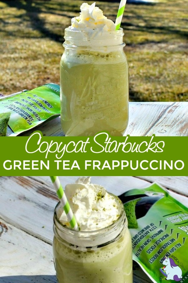 Green tea frappuccino collage