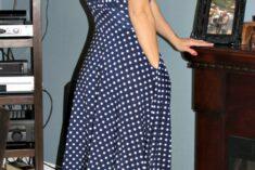 Navy and White Polka Dot Nora Karina Dress