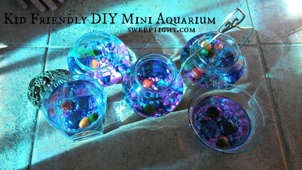 DIY Mini Aquariums for office desk or kids room -  fun and educational activities for kids