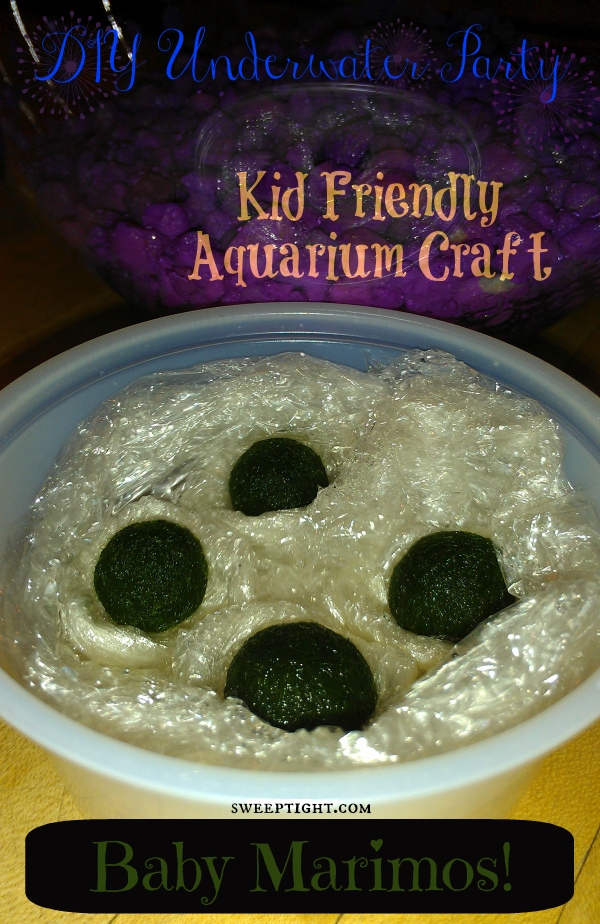 Educational activities for kids - DIY Mini Aquarium Craft for kids with baby marimos
