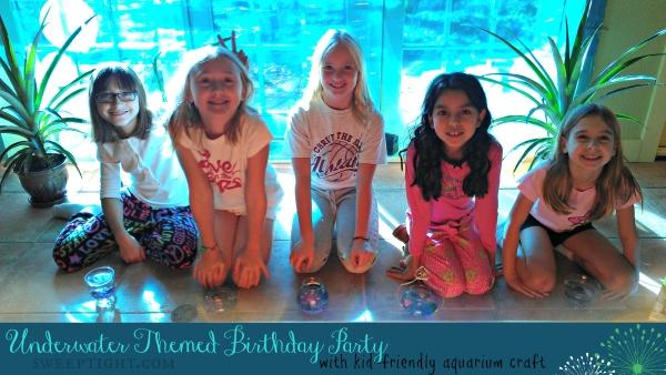 DIY Underwater Birthday Theme with Mini Aquarium Craft for kids - fun party themes