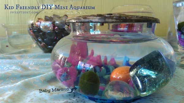 Fun and education activities for kids - DIY Mini Aquarium