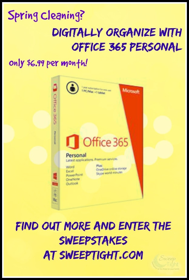 Digitally Organize with Office 365 Personal #OfficeGiveaway Sweepstakes
