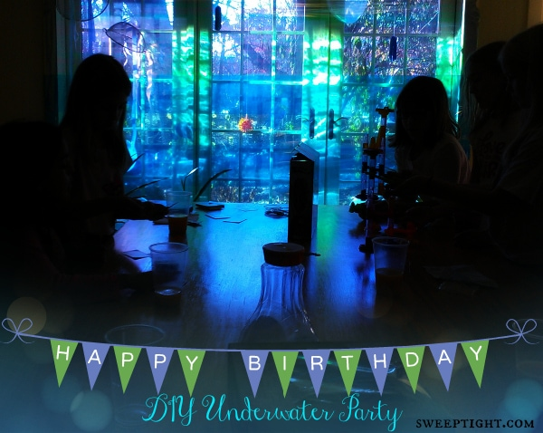 DIY Underwater Party themes decorations for under $25