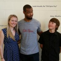 Old Spice Isaiah Mustafa and Sweep Tight Blogger