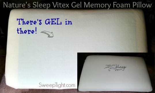 Vitex Gel Memory Foam Pillow #NaturesSleep #Sponsored