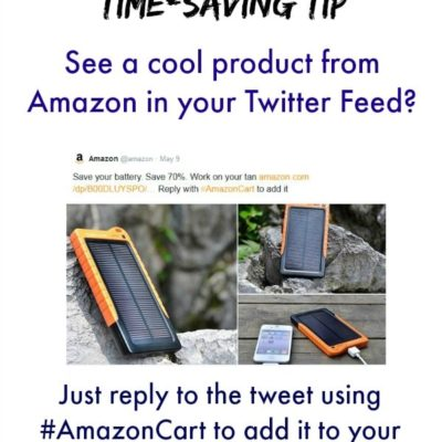 Amazon Shopping Made Even Easier with #AmazonCart