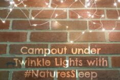 Backyard Campout with #NaturesSleep and Twinkle Lights