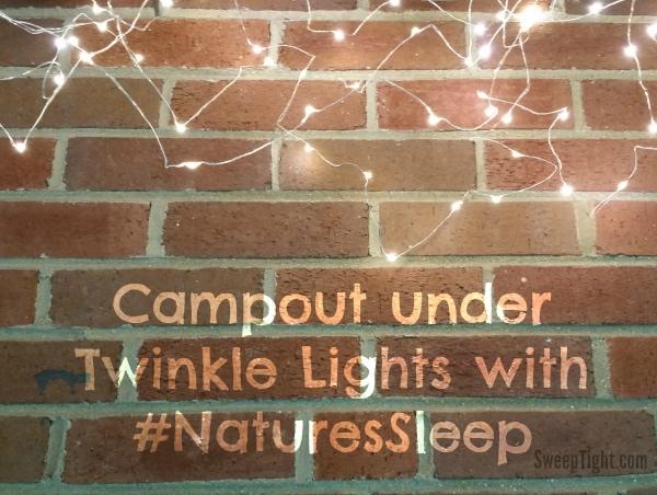 Backyard Campout with #NaturesSleep Memory Foam