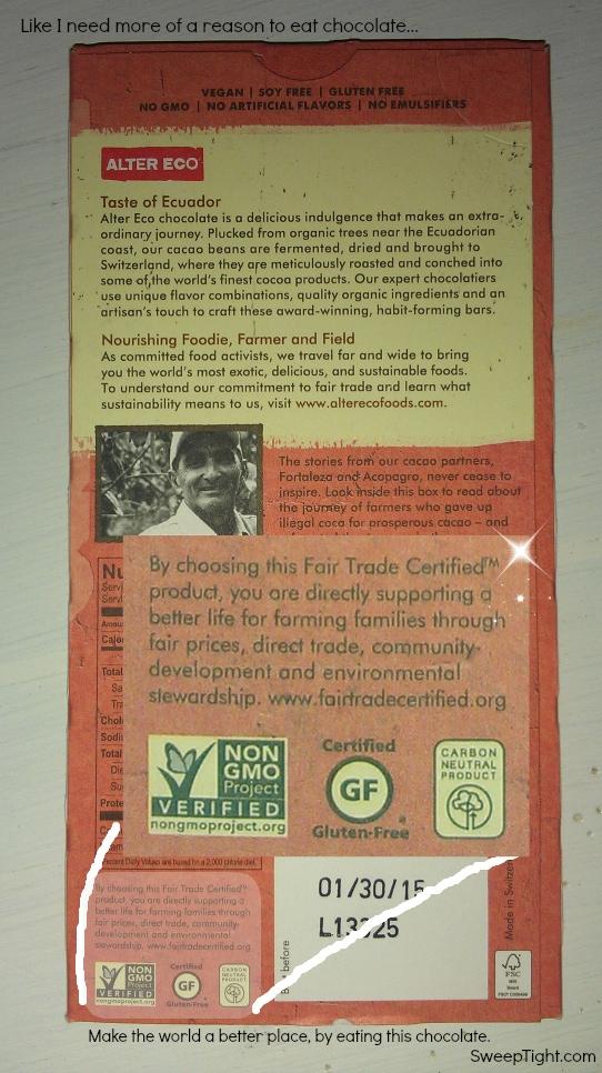 Alter Eco Fair Trade Organic Chocolate