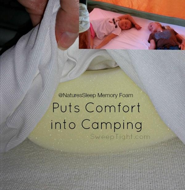 Camping with comfort #NaturesSleep #MemoryFoam #spon
