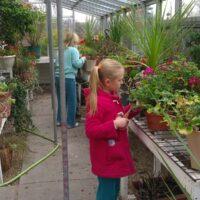 family fun in the greenhouse