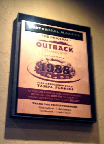 Trip to Outback Headquarters in Tampa